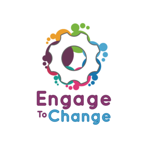 Engage to Change logo -illustration of cogs in different colours