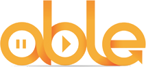 Able Radio Logo - stylised text of the word Able