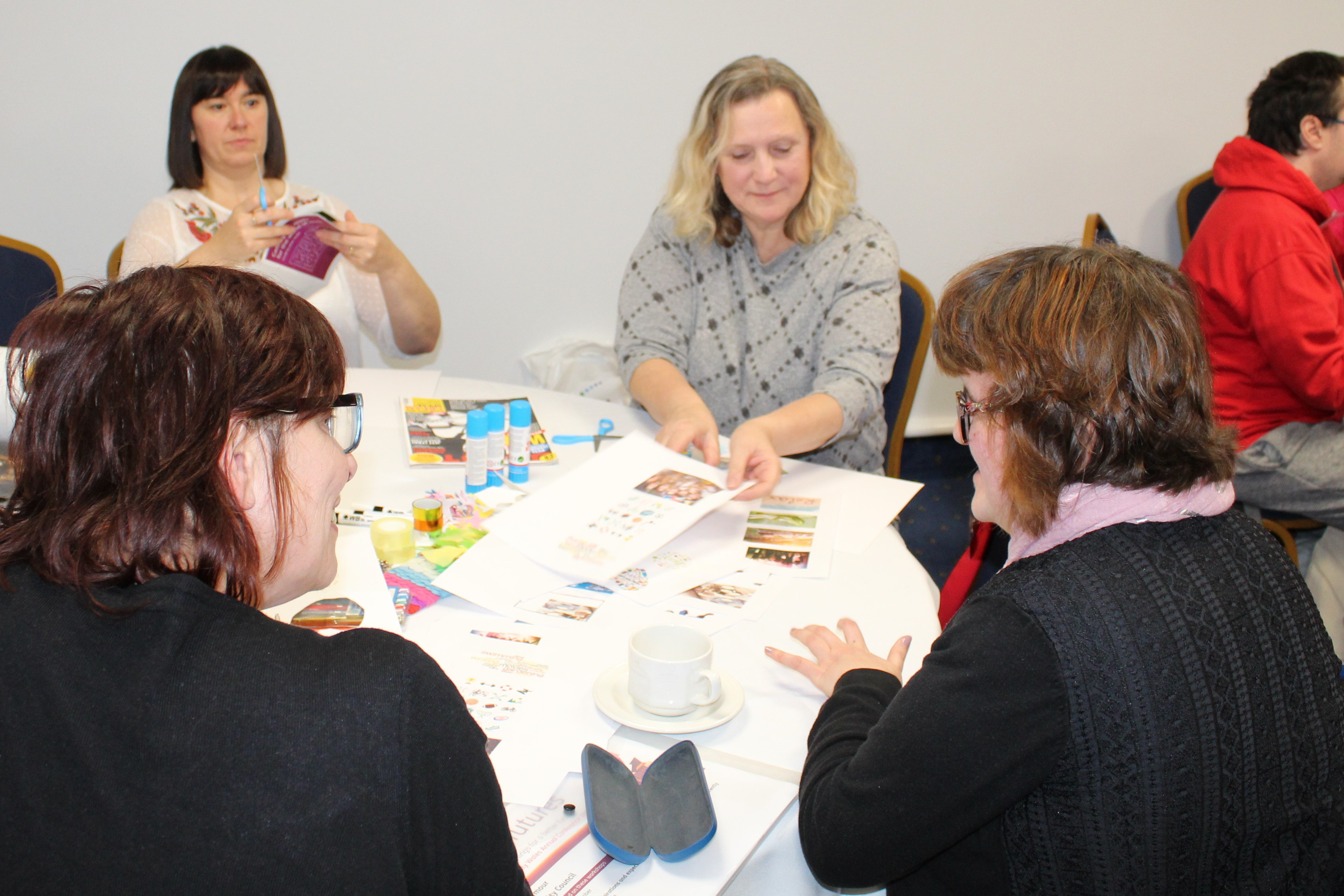 group of people at a workshop