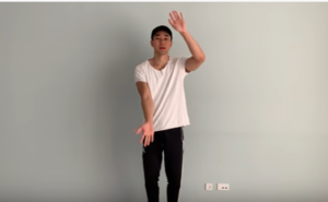 A man is dancing